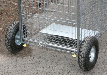 Wheel Kit for Larger Live Animal Traps for Easy Transportation
