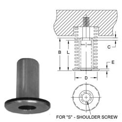 photo and drawing of spring retainer spool MAIN