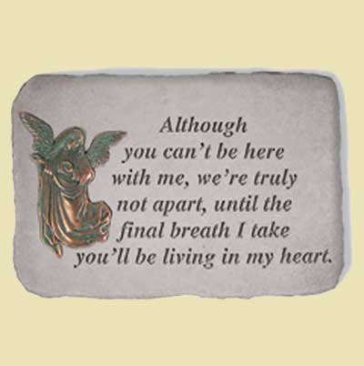 Although you can't be here... Bereavement Garden Stone LARGE