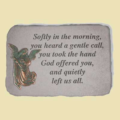 Softly in the morning... Remembrance Garden Stone LARGE