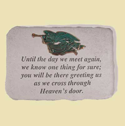 Until the day we meet again... Remembrance Garden Stone LARGE