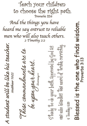 Lifelines Scripture Stickers - EDUCATION LARGE