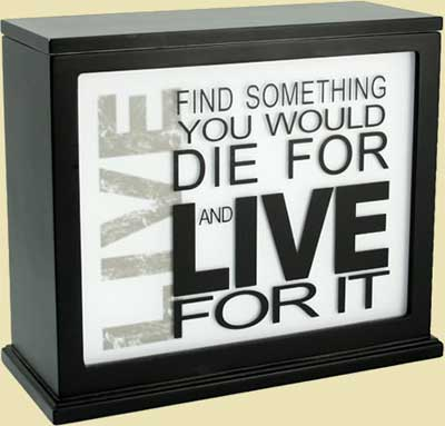 Inspirational Accent Lamp & Light Box (BLACK) - Insert Sold Separately