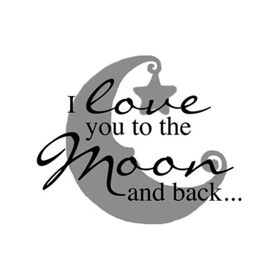 Light Box Insert  - I love you to the moon... LARGE