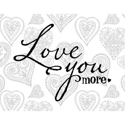 Light Box Insert  - Love You More_LARGE