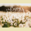 Light Box Insert - Dandelions - Enjoy Little Things