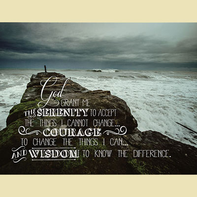 Light Box Insert - The Serenity Prayer