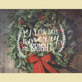 Light Box Insert - Christmas Wreath Merry Bright THUMBNAIL