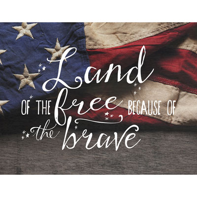 Light Box Insert - Flag - Land of the Free