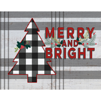 Light Box Insert - Merry and Bright LARGE