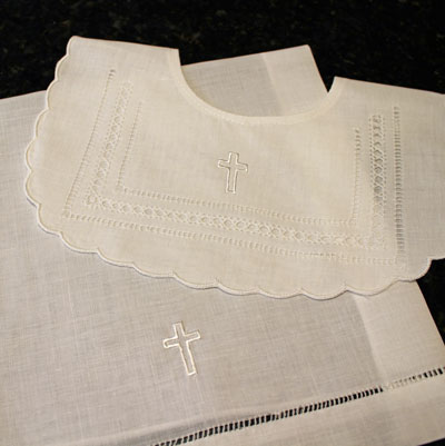 Baptismal Set - Bib & Purificator Towel