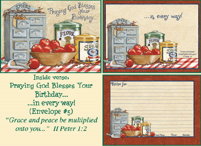 Recipe Birthday Card - Spices & Apples LARGE