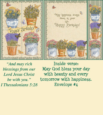Birthday Bookmark Card - Herb Collection LARGE