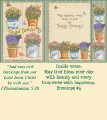 Birthday Bookmark Card - Herb Collection THUMBNAIL