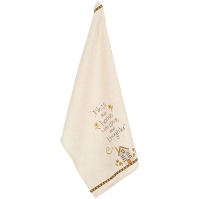 """Bless This Home"" Dish Towel LARGE"