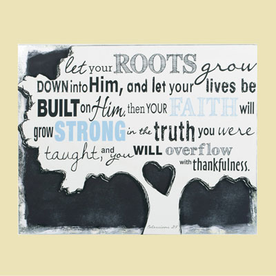 """Let your roots grow..."" Canvas Wall Art"