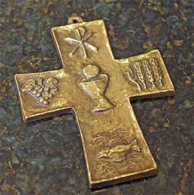 First Communion Bronze Wall Cross LARGE