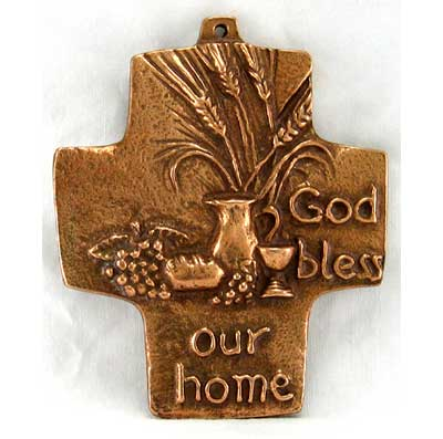 God Bless Our Home Bronze Cross