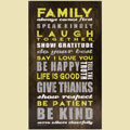 """Family Comes First"" Wooden Sign"