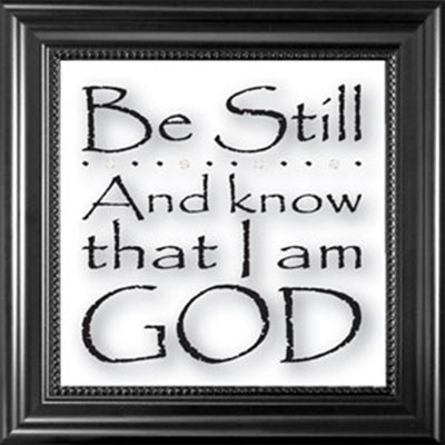 Be still and know... Framed Glass Decor