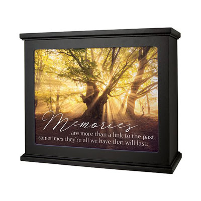 Black Light Box with 'Memories Last' Insert LARGE