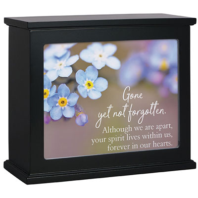 Black Light Box with 'Not Forgotten' Insert LARGE