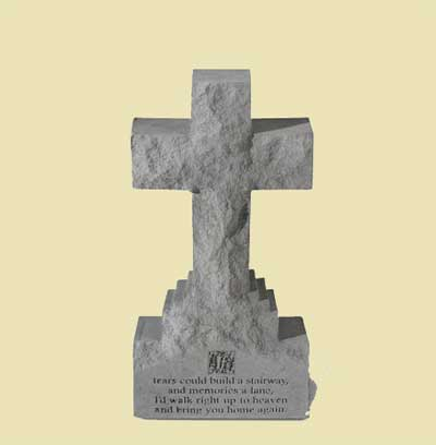 "If Tears Could Build... 15"" Cross Statue on Base"