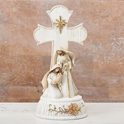 Musical Holy Family Figurine - Plays O Holy Night LARGE