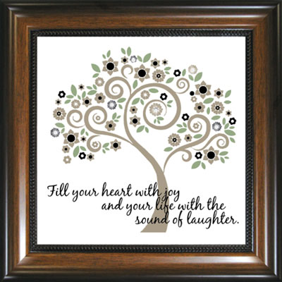 Fill Your Heart... Framed Glass Decor LARGE