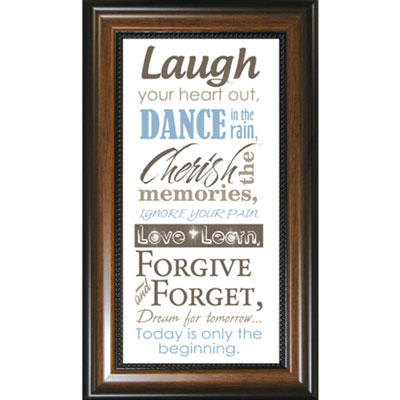 Laugh your heart out... Framed Glass Decor