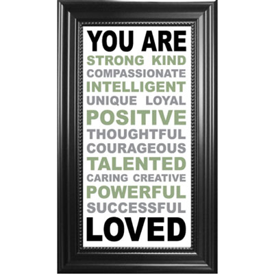 You are... Framed Glass Decor