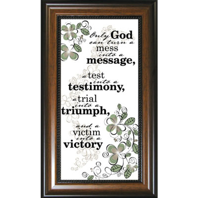 Only God can turn... Framed Glass Decor LARGE