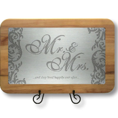Mr & Mrs - Happily Ever After - Cutting Board LARGE