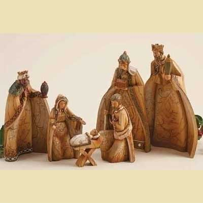 "6 Piece 8.5"" Nesting Nativity"