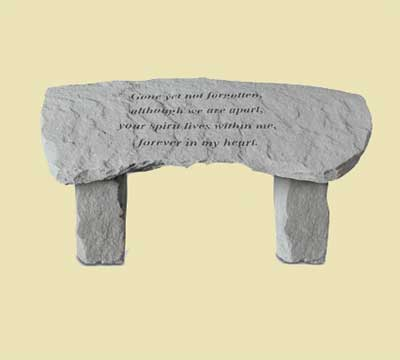 Gone yet not forgotten... Small Memorial Garden Bench LARGE
