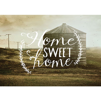 Photo Light Box Insert - Silo Home Sweet Home LARGE