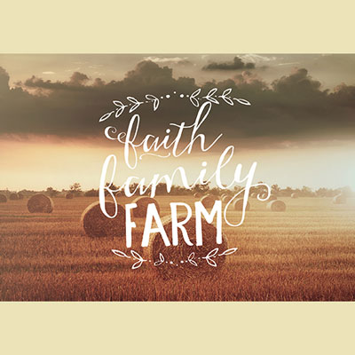 Photo Light Box Insert - Faith Family Farm LARGE