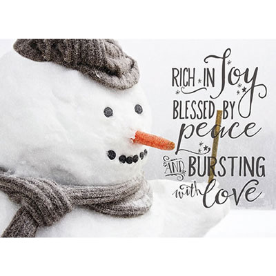 Photo Light Box Insert - Snowman Rich in Joy