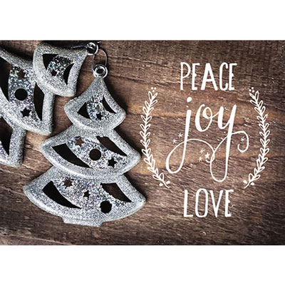 Photo Light Box Insert - Trees Peace Joy Love