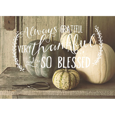 Photo Light Box Insert - Always Grateful - Pumpkins