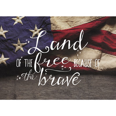 Photo Light Box Insert - Flag - Land of the Free