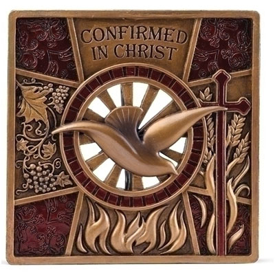 Confirmation Plaque - Bronzed LARGE