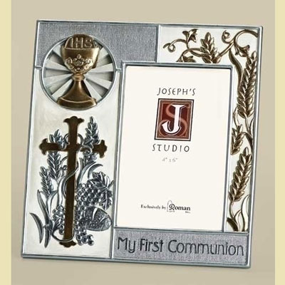 First Communion Frame - Silver/Gold Collection LARGE