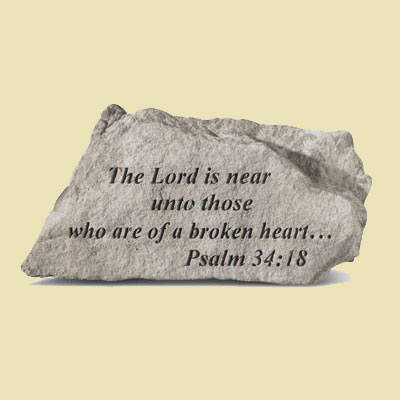 The Lord is near unto those... Garden Accent Stone