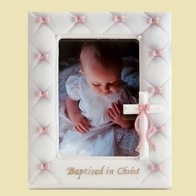 Baptized in Christ Photo Frame - Pink