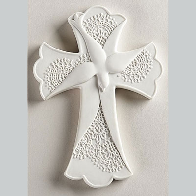 "7.5"" Lace Confirmation Wall Cross"