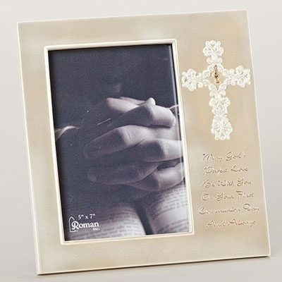 First Communion Frame w/ White Cross