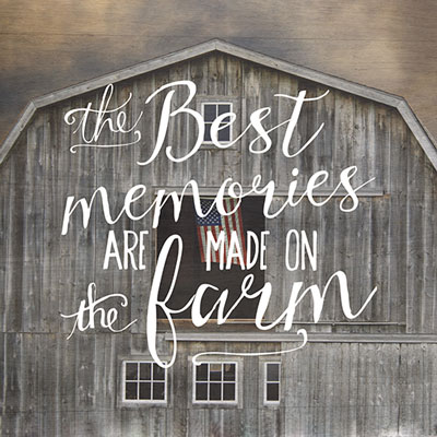 Night Light Insert - The Best Memories are Made on the Farm LARGE