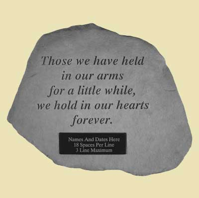 Those we have held... Personalized Garden Stone LARGE