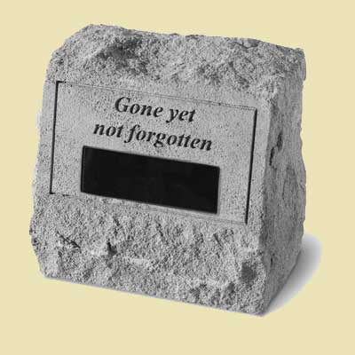 Gone yet not forgotten Personalized Headstone with Urn